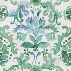 Papel de parede Aqua Living  cód. AQ86646 Paredes Aqua, Green Wallpaper, Plant Leaves, Ornament, Floral, Plants, Textiles, Wallpapers, Illustrations