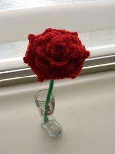 Roos gehaakt
