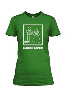 31d6ea17 Amazon.com: Womens Game Over Wedding t shirt classic bachelorette t: Clothing  Wedding