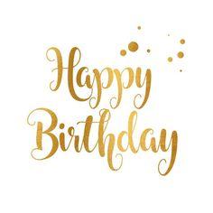 Verjaardagskaart happy birthday goud - How To Make Crazy PARTY Happy Birthday Font, Happy Birthday Calligraphy, Happy Birthday Typography, Birthday Quotes For Me, Happy Birthday Wallpaper, Birthday Text, Happy Birthday Wishes Cards, Birthday Blessings, Happy Birthday Images