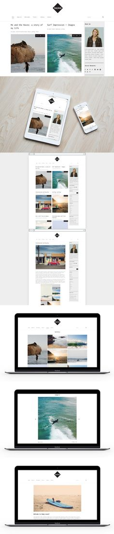WordPress Blog Theme - Hang Loose. WordPress Blog Themes. $27.00