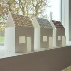 little houses on the windowsill