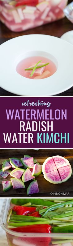 """Water kimchi really doesn't involve a lot of ingredients but it comes out so fabulous – so refreshing and belly cleansing deliciousness. There's a phrase that Koreans use to describe a taste sensation like this – """"속이 확 뚤린다"""" – which basically means it feels like my stomach is totally clearing."""