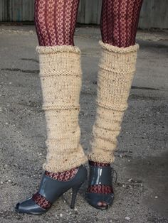 Knit Leg Warmers, totally sexy! No?