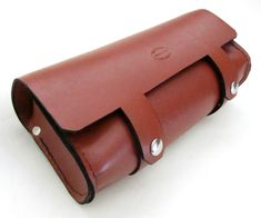 V2 Whiskey Brown Leather Motorcycle Tool Bag by SanFilippoLeather