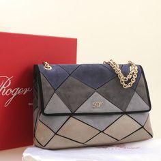 7cdbf02ffa9c cheap Gray blue GM Roger vivier prismick shoulder bag  www.rogerviviershoeshongkong.com roger-vivier-bag.html