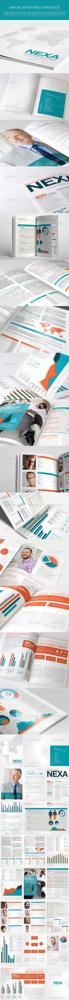 #Annual Report Brochure Ver 3.0 - #Corporate #Brochures Download here: https://graphicriver.net/item/annual-report-brochure-ver-30/4280498?ref=alena994