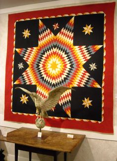 Lone Star Quilt spotted at the Winter Antiques Show 2009.  Lancaster, Pennsylvania, 19th century.