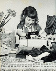 Sewing in 1960 Petite couturiere