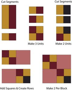 Sew Four Square, an Easy Patchwork Quilt Block: Make Patchwork for the Four Square Quilt Block