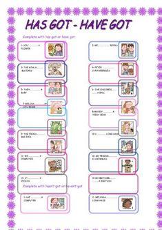 have got has got exercises pdf