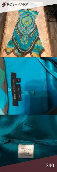 "BCBGMAXAZRIA silk dress size 6 Beautiful colors!  Bust 32"". Bundle 3 or more & save! BCBGMaxAzria Dresses"