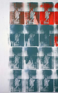 Andy Warhol (American, Statue of Liberty, 1962 silkscreen ink and spray paint on linen 80 x 61 in.) The Andy Warhol Museum, Pittsburgh Andy Warhol Pop Art, Andy Warhol Museum, Jamie Wyeth, Jean Michel Basquiat, Keith Haring, Madonna, Warhol Paintings, August Renoir, Pittsburgh