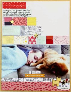 Toni From Designs: It's Good to Be Home Scrapbook Layout
