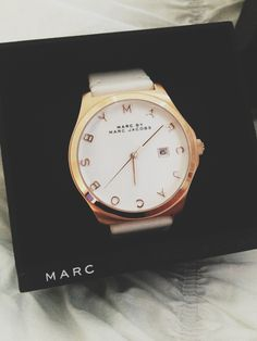 Summer time calls for all white everything - Marc by Marc Jacobs Baker Watch.
