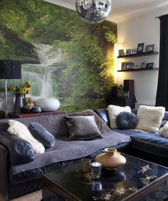 Beauty Nature Living Room Wallpaper Design #Onlymurals