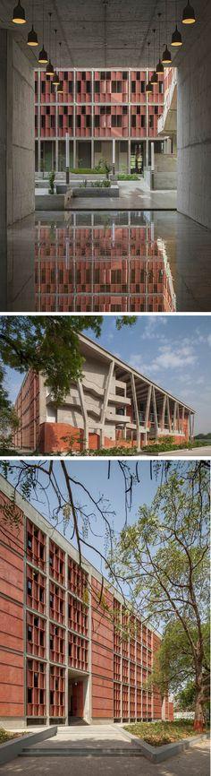 IET, Ahmedabad University Campus | vir.mueller architects architecture institute facade design #architecture #stone #facade #design