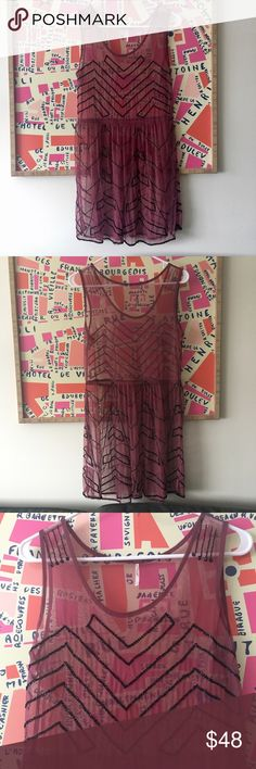 Free People Beaded Dress Slip Small Worn once. A few beads missing here or there but nothing obvious or noticeable. Pics are accurate. Free People Dresses