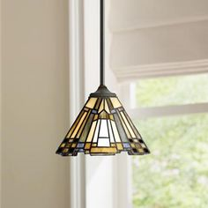 Quoizel Inglenook High Mission Art Glass Mini Pendant- Best Room Decorations for Your Home Kitchen Chandelier, Pendant Chandelier, Chandelier Lighting, Kitchen Lighting, Kitchen Lamps, Crystal Chandeliers, Island Lighting, Tiffany Pendant Light, Tiffany Lamps