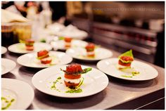 caprese salad :: wedding by www.kylemichelleweddings.com :: food by www.fleurdelyscatering.com :: photography by www.lindseykphotography.com