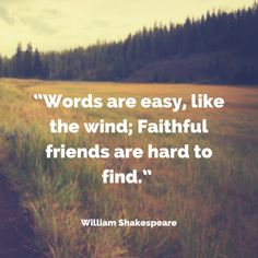 Quote about friendship by William Shakespeare