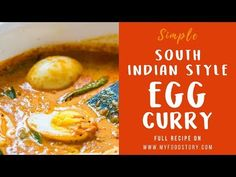 Learn how to make South Indian style Egg Curry, inspired by Kerala cuisine. Easy, comforting and creamy egg curry recipe! Curry Recipes, Rice Recipes, Veggie Recipes, Vegetarian Recipes, Old Recipes, Cooking Recipes, Recipies, Dinner Recipes, Dessert Recipes