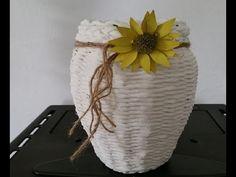 Aus einem Gurkenglas eine Vase Zaubern - YouTube