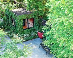 There's nothing fun about sitting in a cubicle all day, but working in the middle of an enchanting garden oasis? Now that sounds like a dream.
