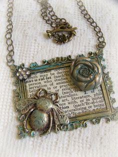 ideas for diy jewelry pendants mixed media - DIY Schmuck Ideen