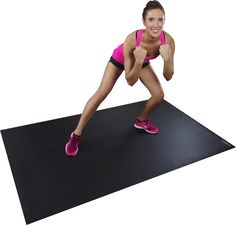 Larger Than A Regular Exercise Yoga Mat Perfect Fitness To Use With Cardio Plyometric MMA Aerobic DVDs Ideal For Living Room Workouts And