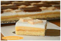 Glutenfreie Zitronen-Butterkeks-Schnitten! Herrlich erfrischend, zart und lecker! www.rezepte-glutenfrei.de Sin Gluten, Gluten Free, Vanilla Cake, Cheesecake, Sweets, Vegan, Baking, Easy, Desserts