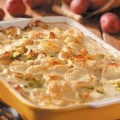 Vegan Potato Alfredo Bake-This is a nice and healthy way for a vegan to put on size with carbs and protein... Remember don't cheat yourself, treat yourself.