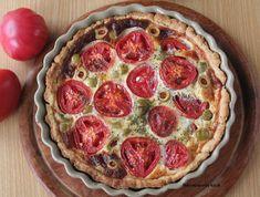 Marcepanowy Kącik: Tarta z pomidorami i oliwkami
