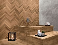 Atlas Concorde - Etic Pro. The arrangement of these wood-look porcelain tile surfaces evoke a selection of prestigious and original wooden essences with a cutting, sharp, and modern character. @atlasconcorde #Cersaie2015