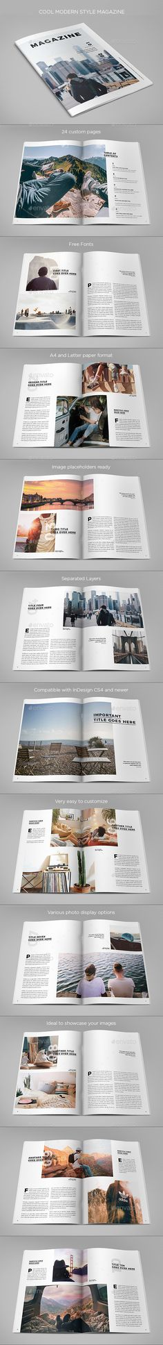 Cool Modern Style Magazine Template InDesign INDD