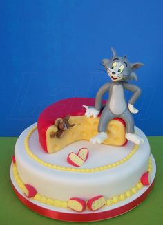 torta tom y jerry - Buscar con Google Tom And Jerry Cake, Tom Y Jerry, Cake Icing, Eat Cake, Cake Cookies, Cupcake Cakes, Adult Birthday Cakes, Valentine Cake, Biscuits