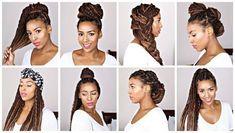 53 Box Braids Hairstyles That Rock - Hairstyles Trends Marley Twists Updo, Marley Twist Styles, Marley Twist Hairstyles, Cute Box Braids Hairstyles, Braided Hairstyles Updo, Cool Hairstyles, Protective Hairstyles, Updos, Natural Hair Inspiration