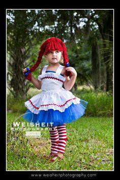RAG DOLL SWEETIE Raggedy Ann Inspired Tutu Set by goodygoodytutus - Halloween costume????