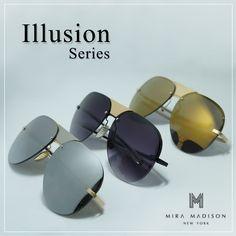 #miramadisonbrand #มิร่าเมดิสัน New Arrival Collection 2016 รุ่น Illusion (อิลาสชั่น) #Illusion รุ่น Illusion มีทั้งหมด 3 สี - เลนส์สีเหลืองทอง - เลนส์สีดำ - เลนส์สีเงิน