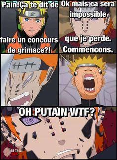 Un concours de grimaces dans Naruto... - Be-troll - vidéos humour, actualité insolite