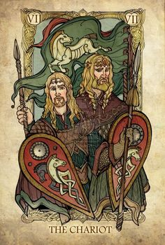 The Chariot (Theoden and Eomer) - Lord of the Rings Tarot