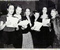 Dorothy Lamour, Ginny Simms, Dinah Shore, Judy Garland, Virginia O'Brien, and Frances Langford.