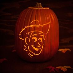 Woody Pumpkin Carving Template