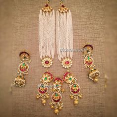Traditional Indian Jewellery, Indian Jewellery Design, Jewelry Design, Jewelry For Her, Simple Jewelry, India Jewelry, Pearl Jewelry, Indian Wedding Jewelry, Bridal Jewelry Sets