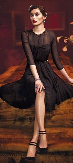 Max Mara - little black cocktail dress