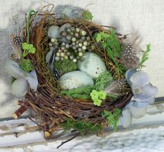 Charming Decorative Birds Nest with Eggs to use in by TracyBible, $24.99