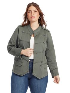 Band Jacket by American Rag Available in sizes 1X-3X