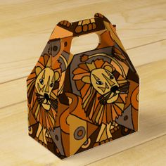 Lion Art Abstract Gift Boxes #lions #art #gift #boxes #animals And www.zazzle.com/inspirationrocks*