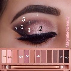 Naked 3 tutorial beautiful pink eyeshadow creates a simple yet elegant make up - Tolle augen - Eye Makeup Makeup Goals, Makeup Inspo, Makeup Inspiration, Makeup Tips, Beauty Makeup, Makeup Ideas, Makeup Tutorials, Makeup Designs, How To Makeup