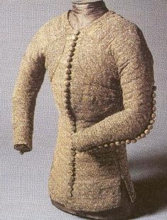 Pourpoint  14th Century  The pourpoint was a fitted jacket for men. It was worn by French noblemen.  Found at: